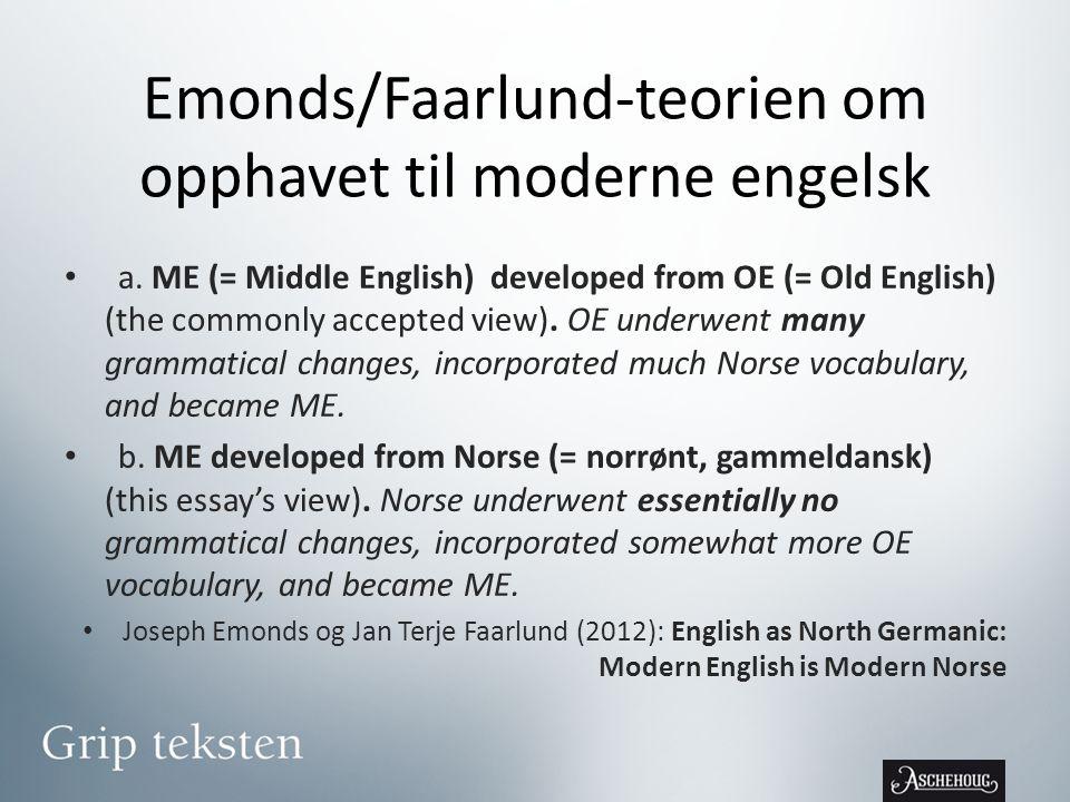 Emonds/Faarlund-teorien om opphavet til moderne engelsk