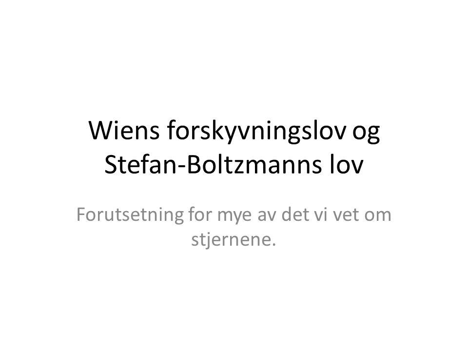 Wiens forskyvningslov og Stefan-Boltzmanns lov