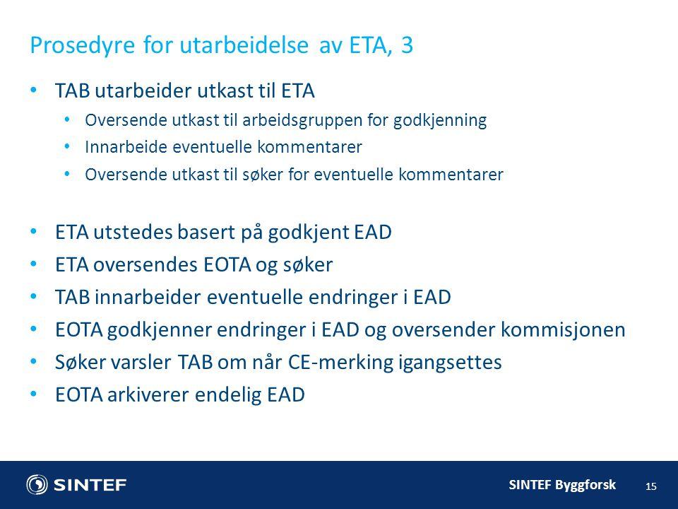 Prosedyre for utarbeidelse av ETA, 3