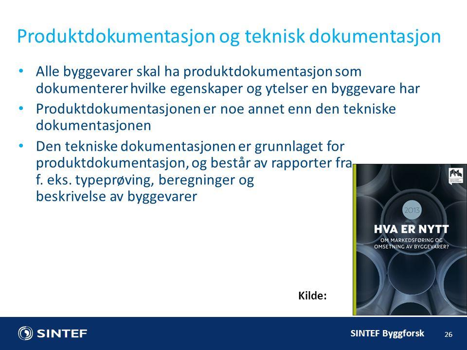 Produktdokumentasjon og teknisk dokumentasjon