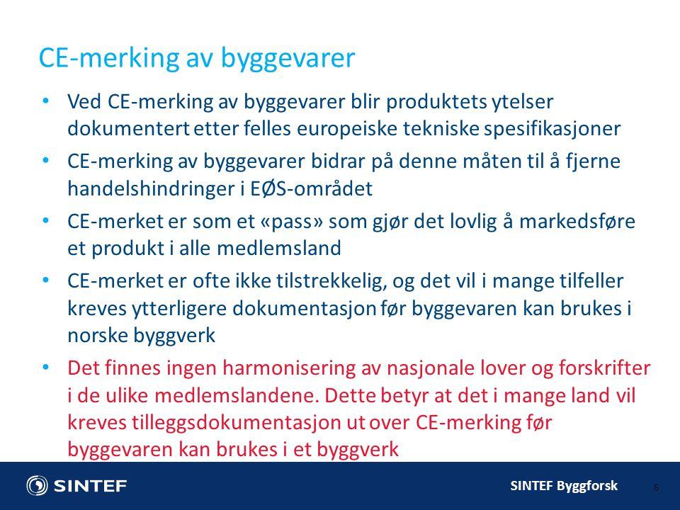 CE-merking av byggevarer
