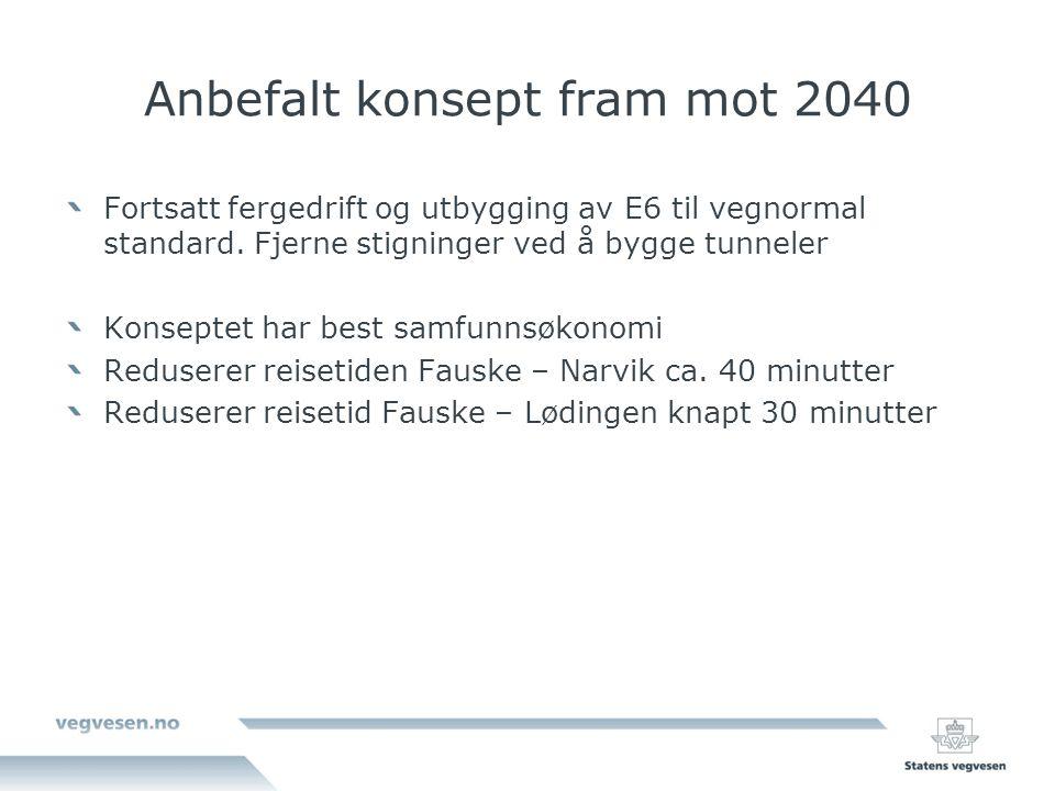 Anbefalt konsept fram mot 2040
