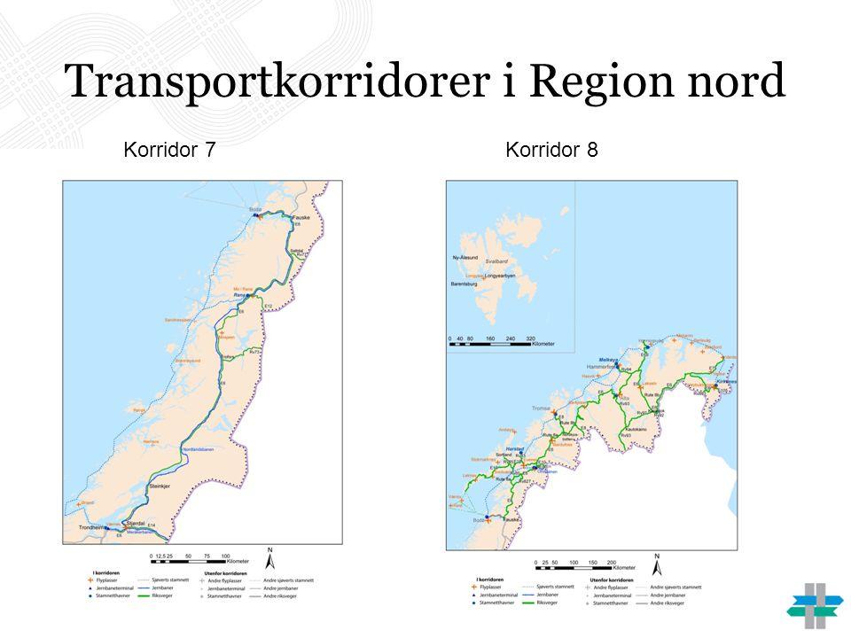 Transportkorridorer i Region nord