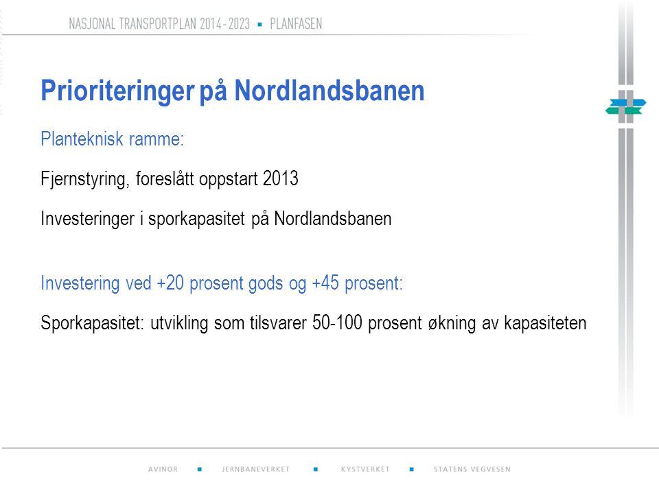 Prioriteringer på Nordlandsbanen