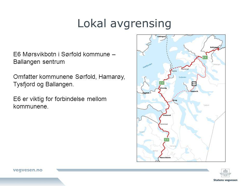 Lokal avgrensing E6 Mørsvikbotn i Sørfold kommune – Ballangen sentrum