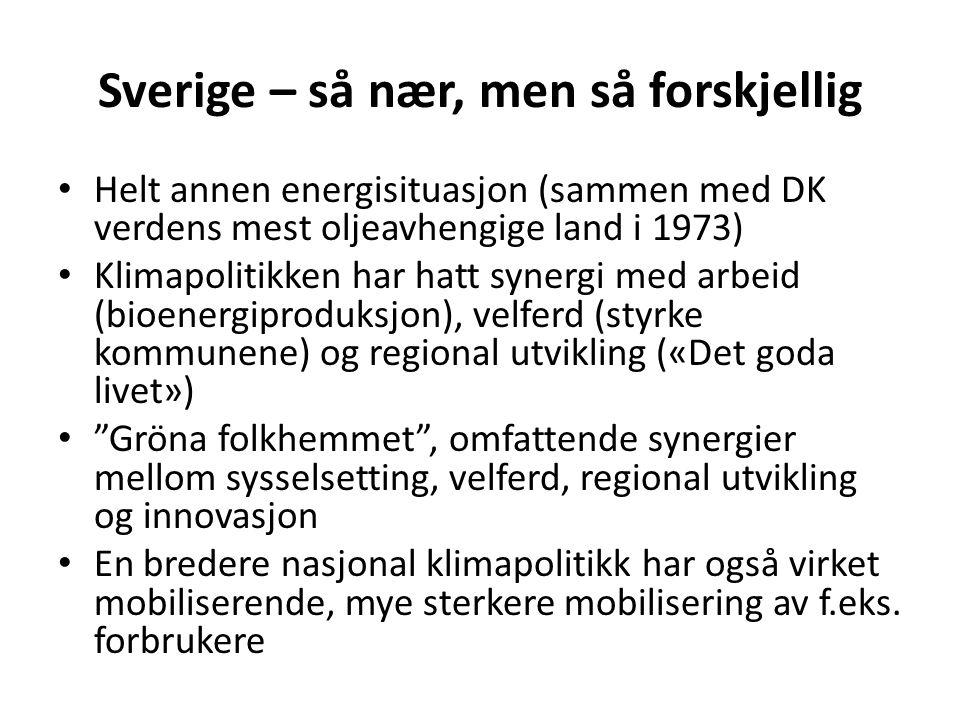 Sverige – så nær, men så forskjellig