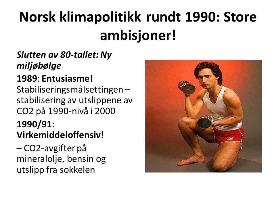 Norsk klimapolitikk rundt 1990: Store ambisjoner!