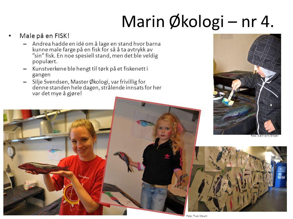 Marin Økologi – nr 4. Male på en FISK!
