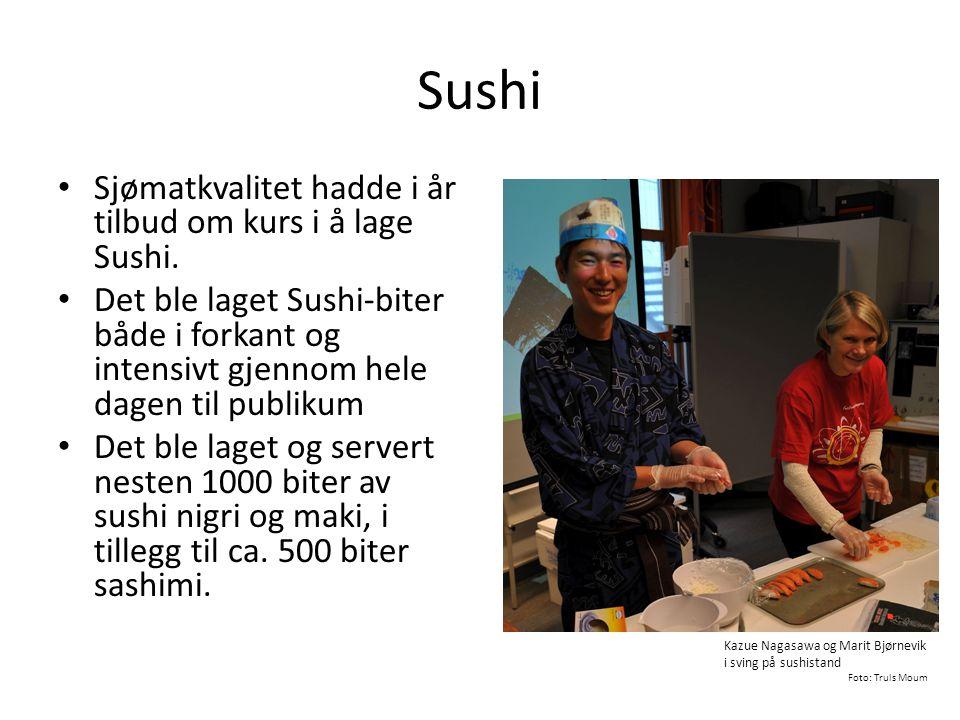 Sushi Sjømatkvalitet hadde i år tilbud om kurs i å lage Sushi.