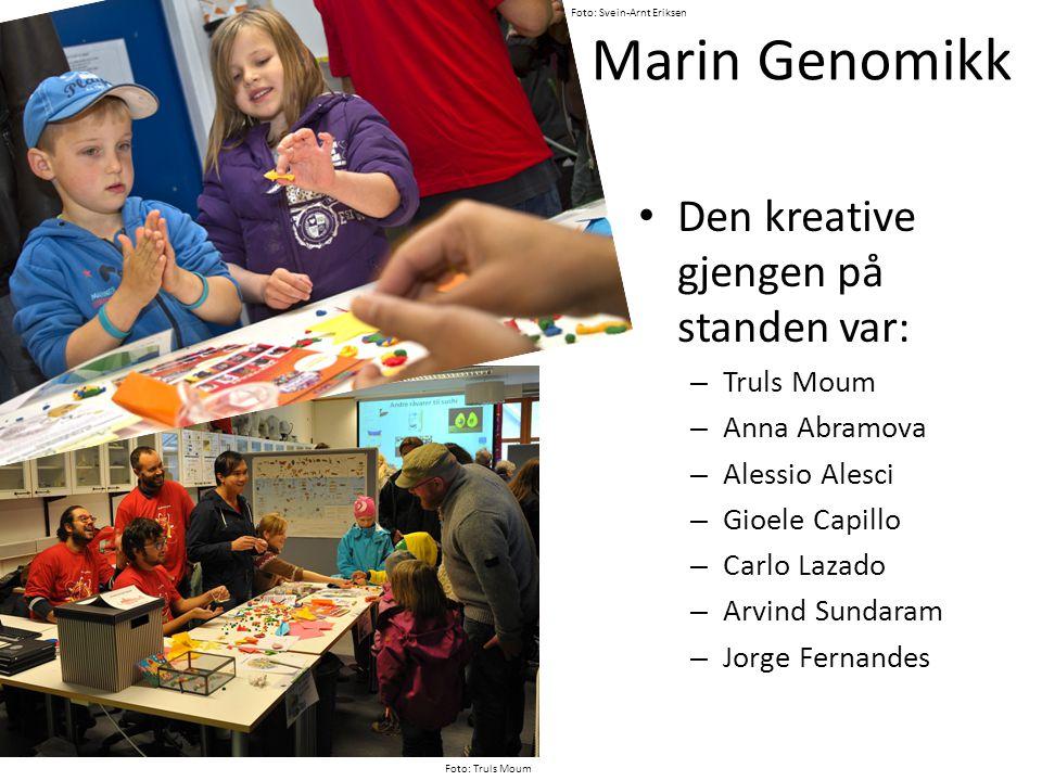 Marin Genomikk Den kreative gjengen på standen var: Truls Moum