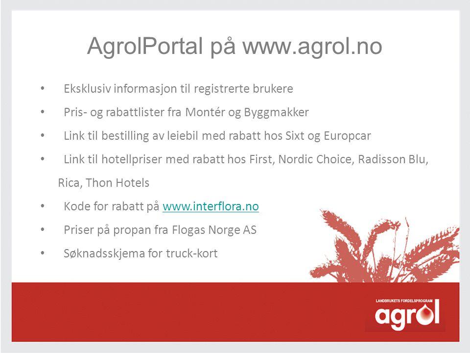 AgrolPortal på www.agrol.no