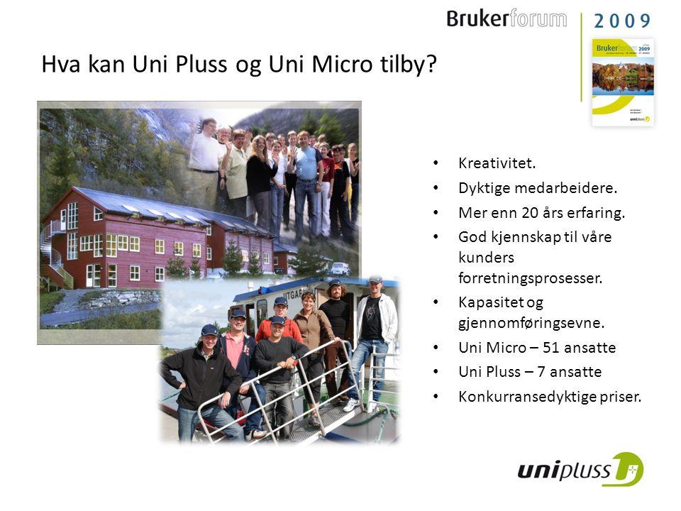 Hva kan Uni Pluss og Uni Micro tilby