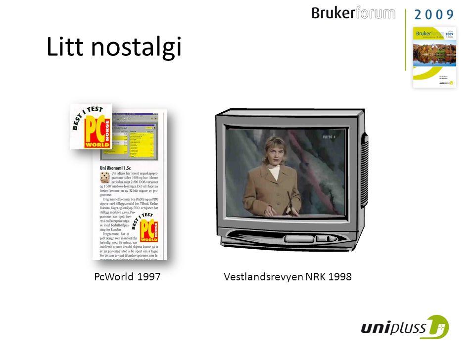 Litt nostalgi PcWorld 1997 Vestlandsrevyen NRK 1998