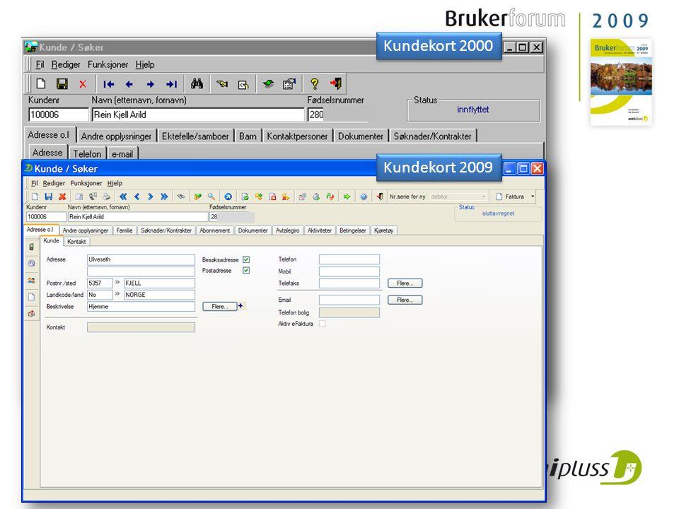 Kundekort 2000 Kundekort 2009