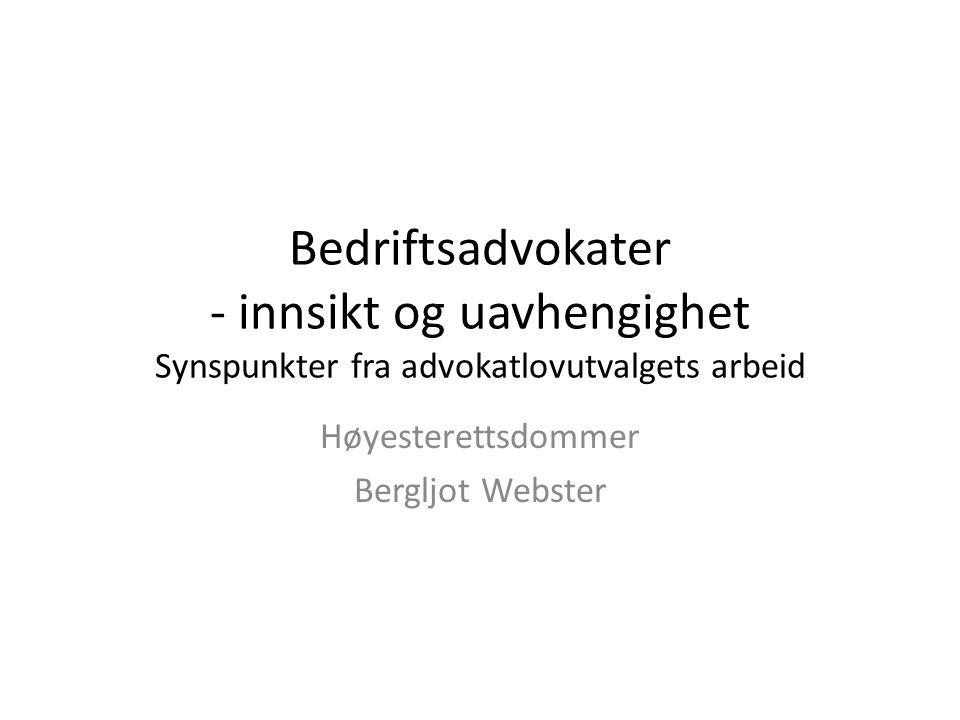 Høyesterettsdommer Bergljot Webster