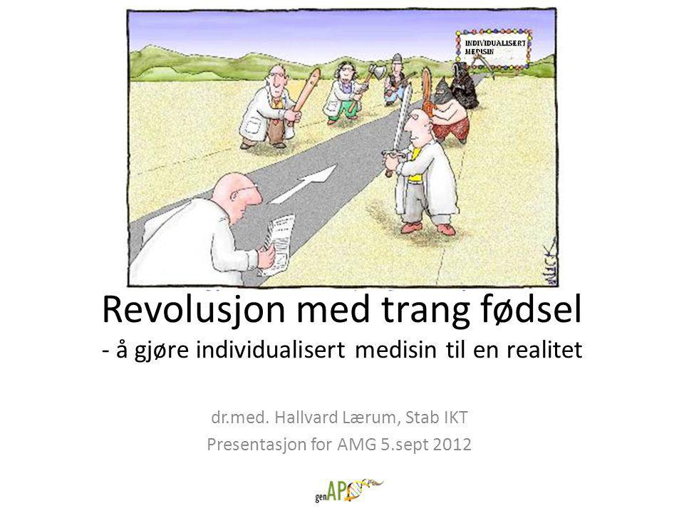 dr.med. Hallvard Lærum, Stab IKT Presentasjon for AMG 5.sept 2012