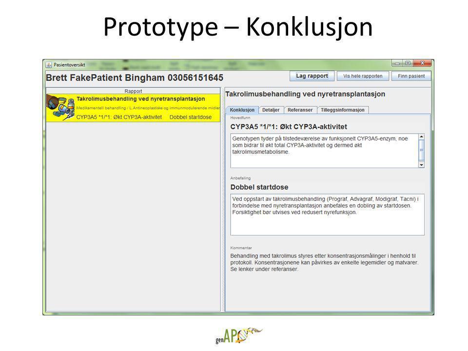 Prototype – Konklusjon