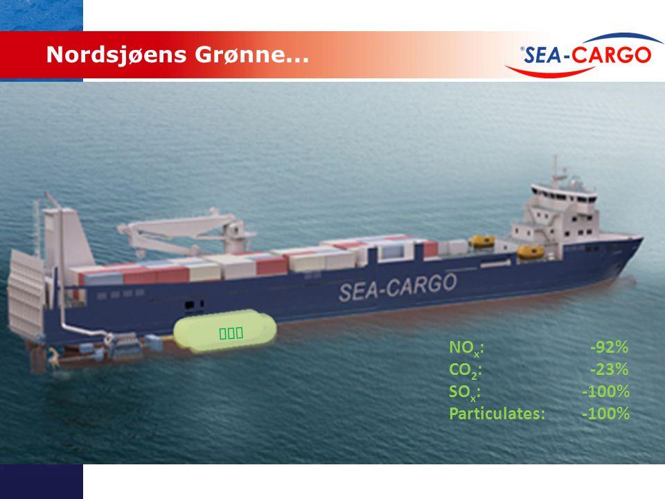 Nordsjøens Grønne... NOx: -92% CO2: -23% SOx: -100%