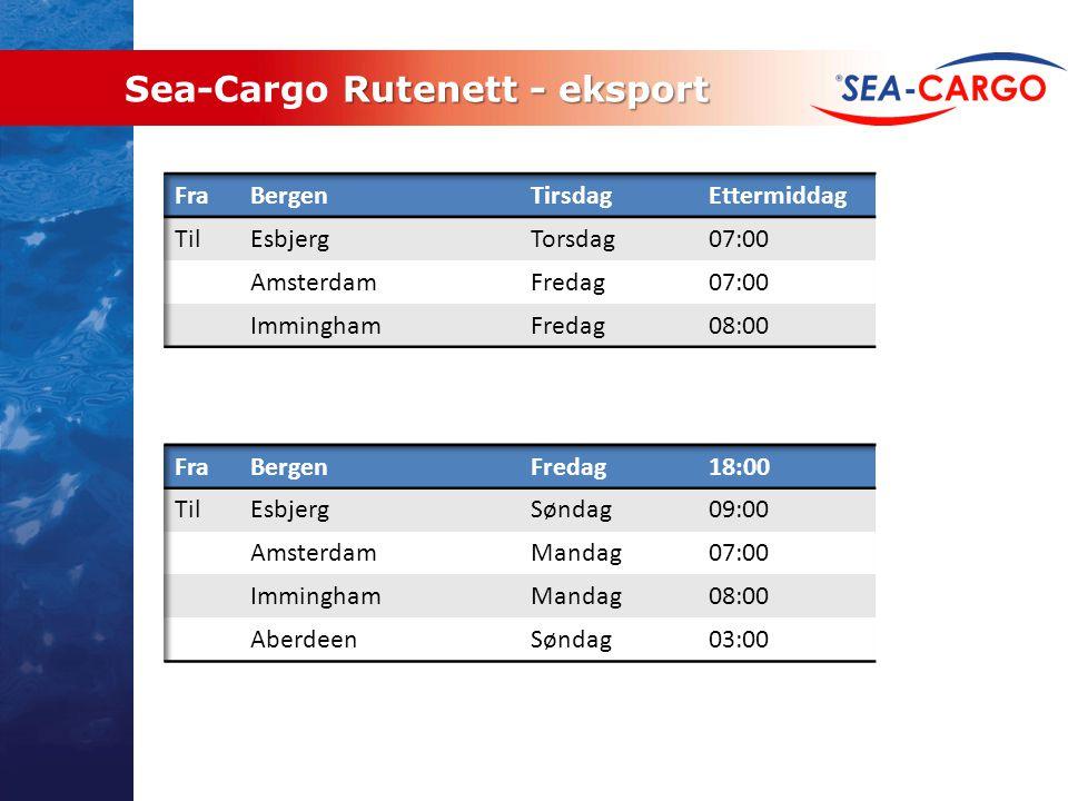 Sea-Cargo Rutenett - eksport