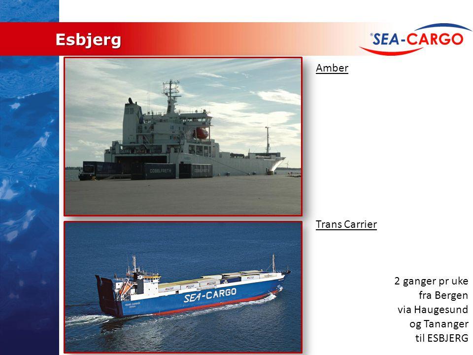 Esbjerg Amber Trans Carrier 2 ganger pr uke fra Bergen via Haugesund