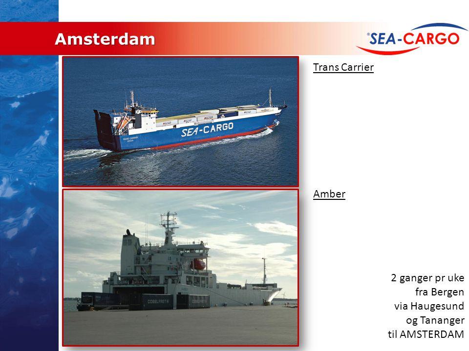 Amsterdam Trans Carrier Amber 2 ganger pr uke fra Bergen via Haugesund