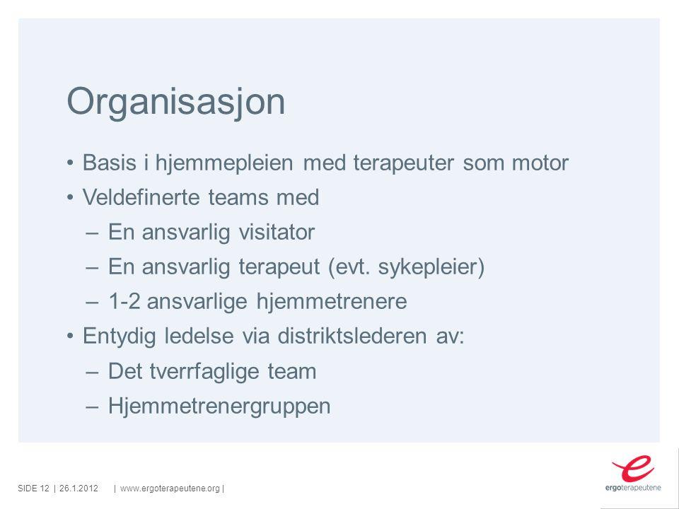 Organisasjon Basis i hjemmepleien med terapeuter som motor