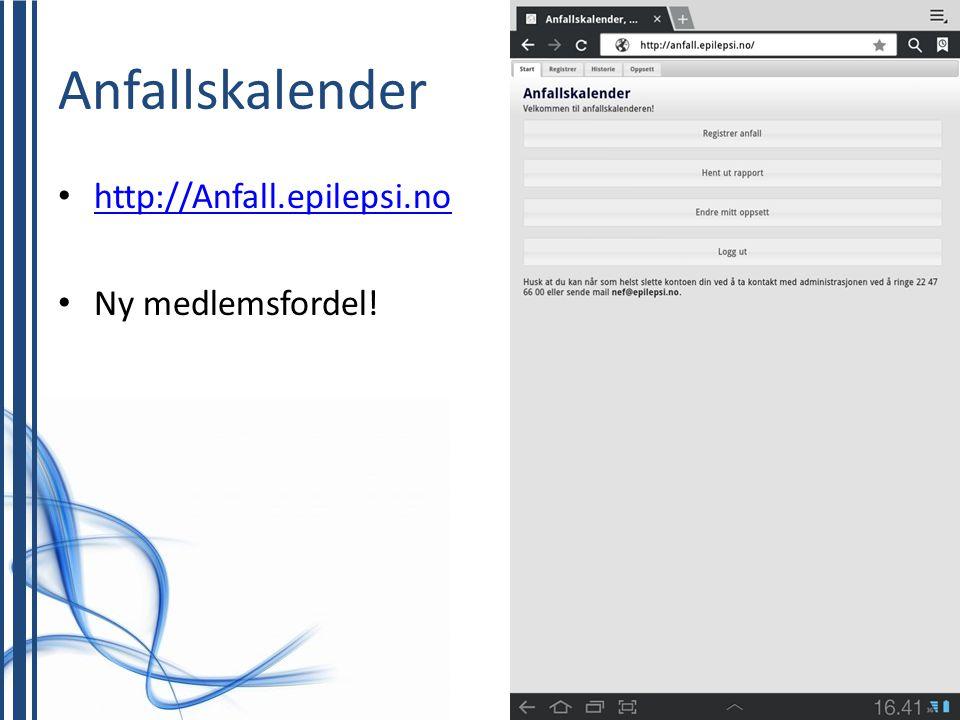 Anfallskalender http://Anfall.epilepsi.no Ny medlemsfordel!