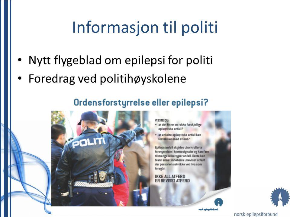 Informasjon til politi