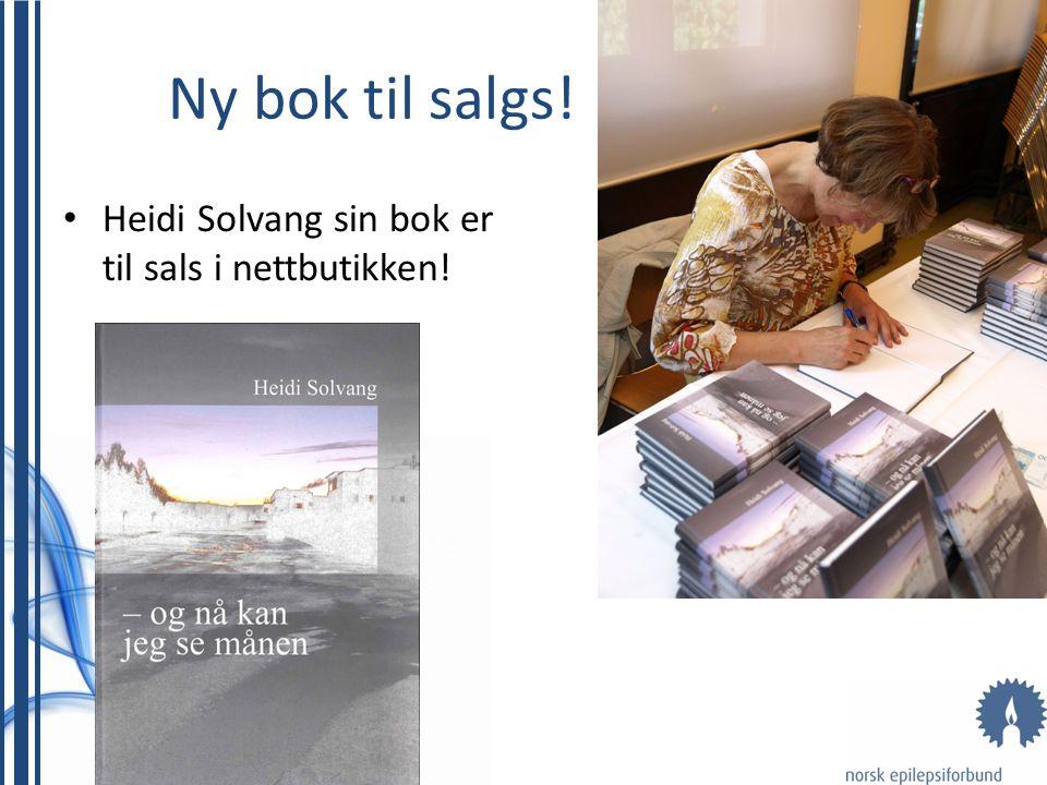 Ny bok til salgs! Heidi Solvang sin bok er til sals i nettbutikken!