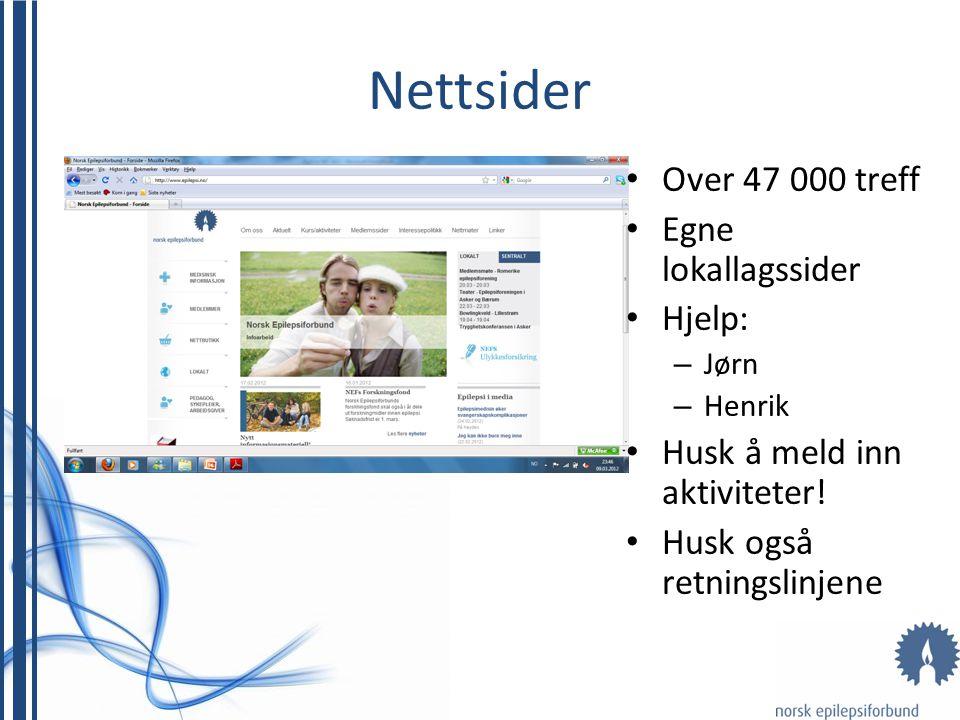Nettsider Over 47 000 treff Egne lokallagssider Hjelp: