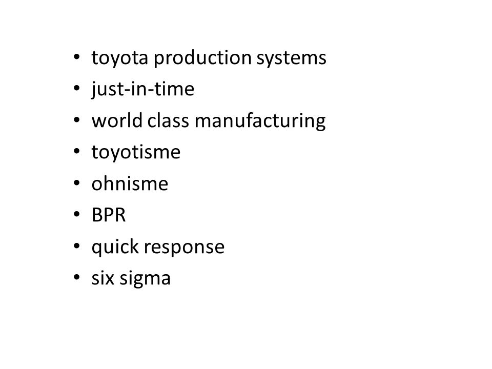 toyota production systems