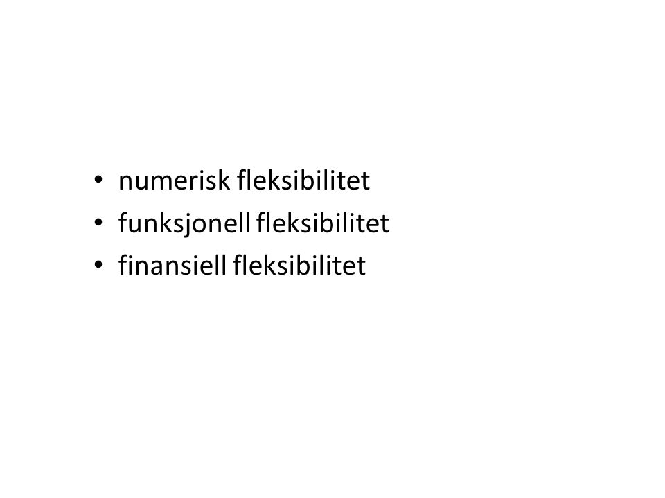 numerisk fleksibilitet
