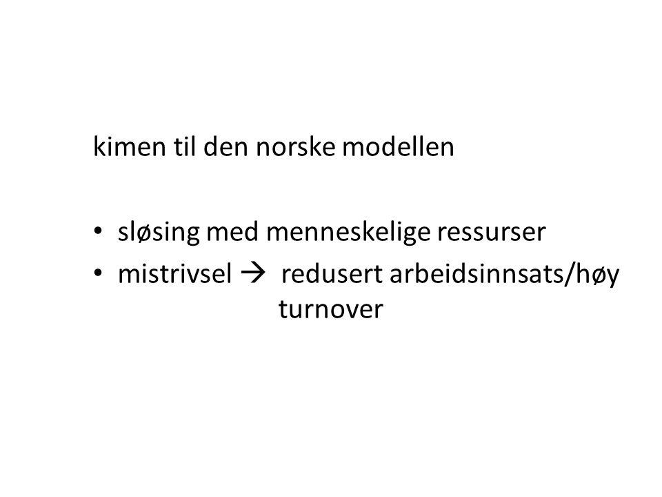 kimen til den norske modellen