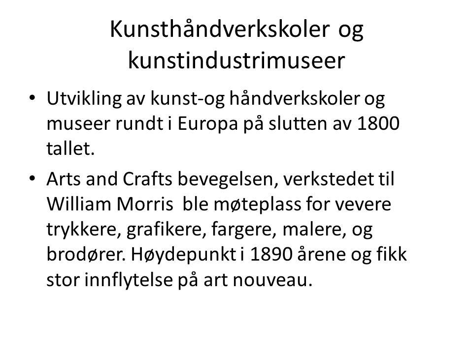 Kunsthåndverkskoler og kunstindustrimuseer