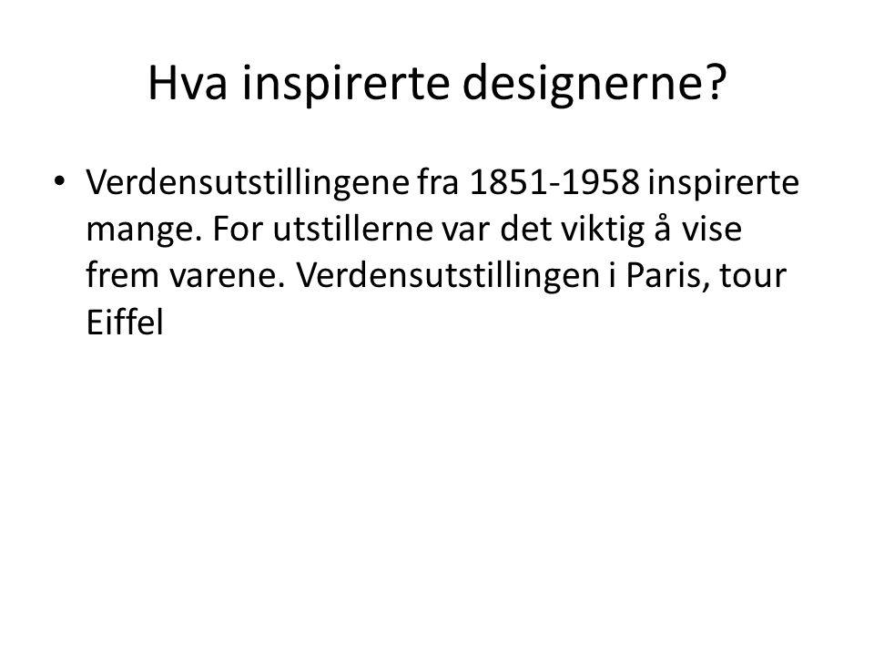 Hva inspirerte designerne