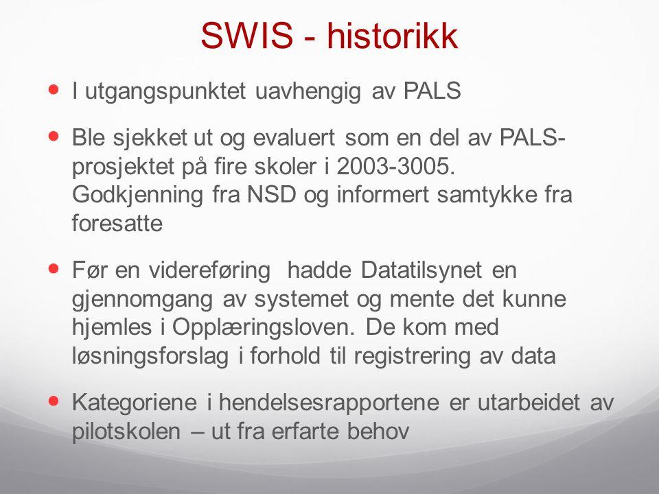 SWIS - historikk I utgangspunktet uavhengig av PALS