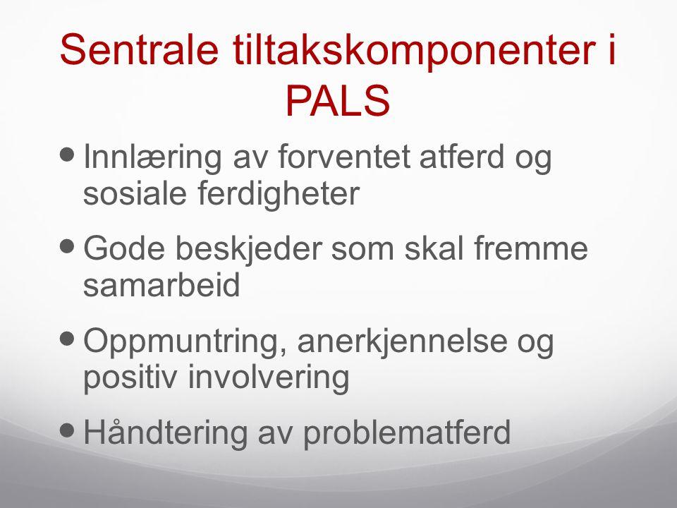 Sentrale tiltakskomponenter i PALS
