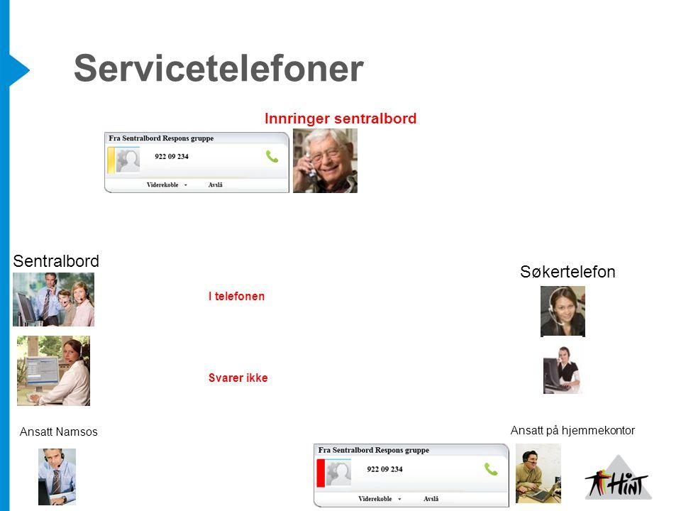 Servicetelefoner Sentralbord Søkertelefon Innringer sentralbord