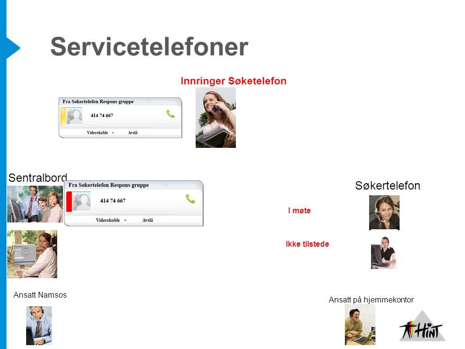 Servicetelefoner Sentralbord Søkertelefon Innringer Søketelefon I møte
