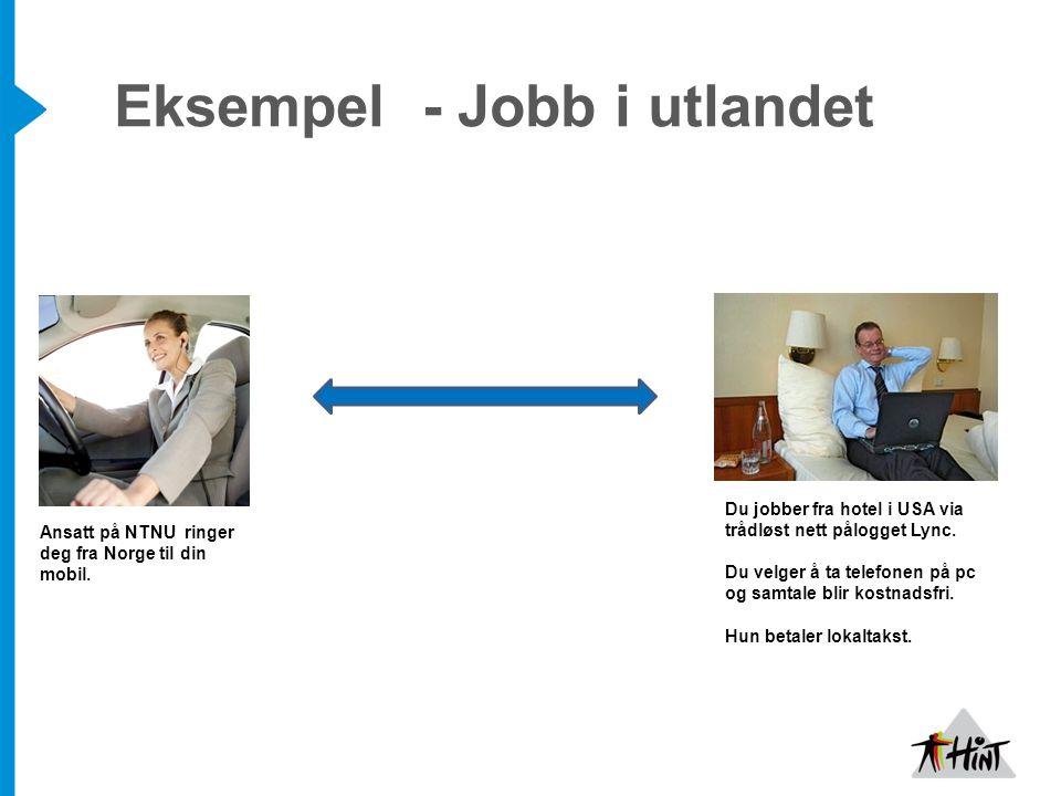 Eksempel - Jobb i utlandet