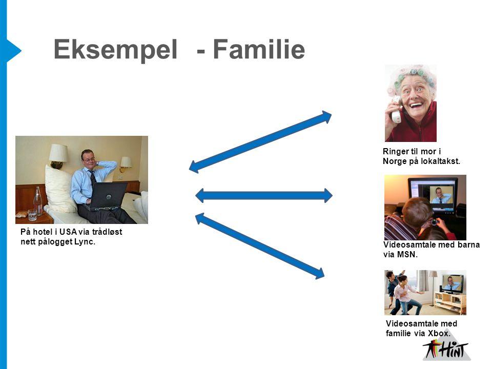 Eksempel - Familie Ringer til mor i Norge på lokaltakst.