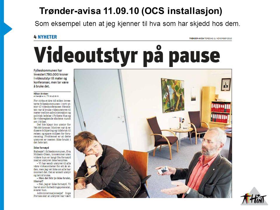 Trønder-avisa 11.09.10 (OCS installasjon)