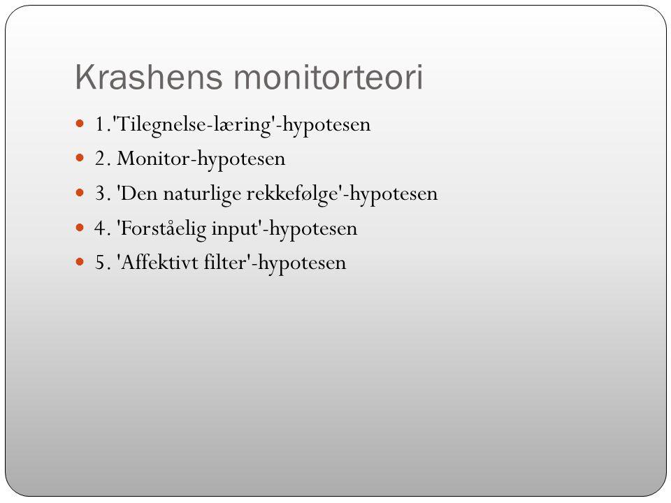Krashens monitorteori