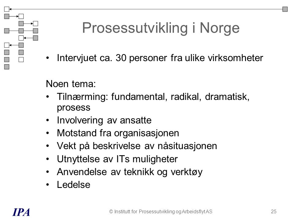 Prosessutvikling i Norge