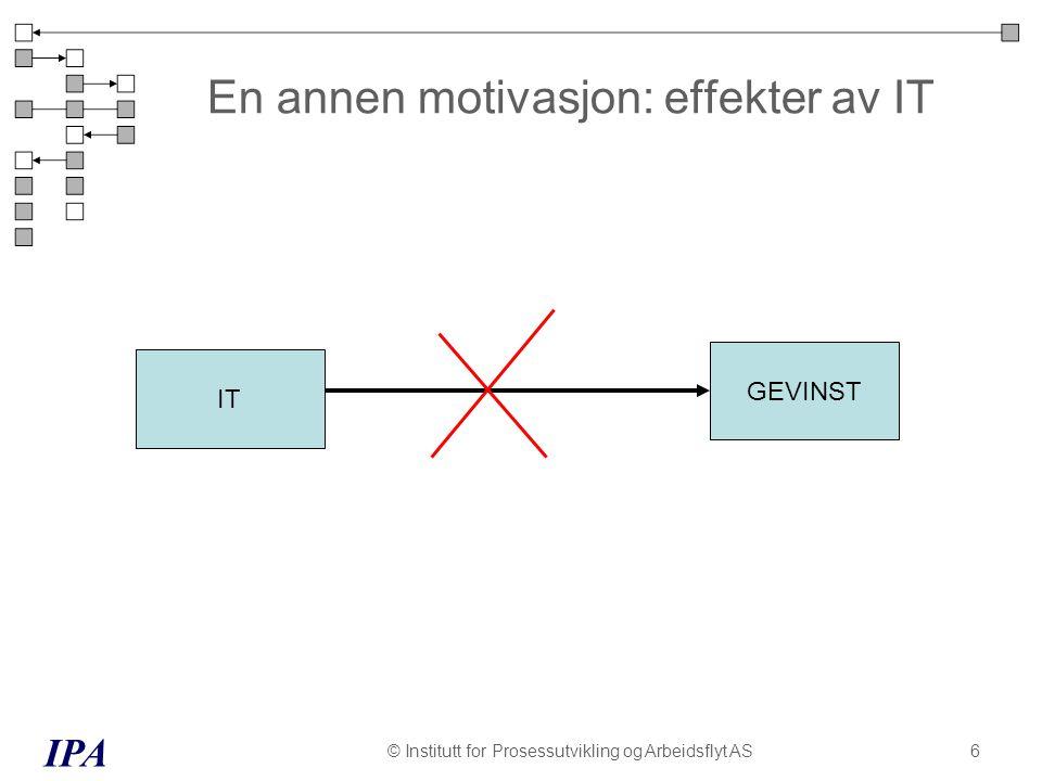 En annen motivasjon: effekter av IT