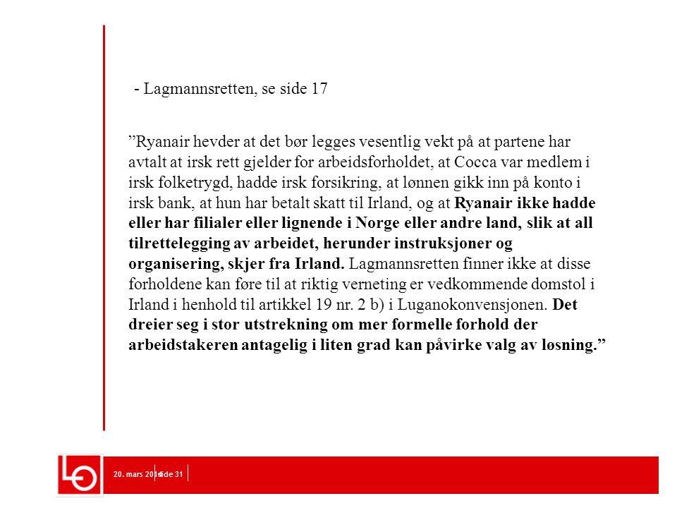 - Lagmannsretten, se side 17