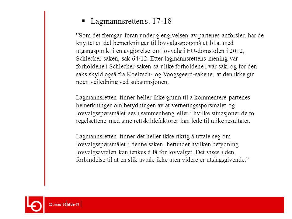 Lagmannsretten s. 17-18