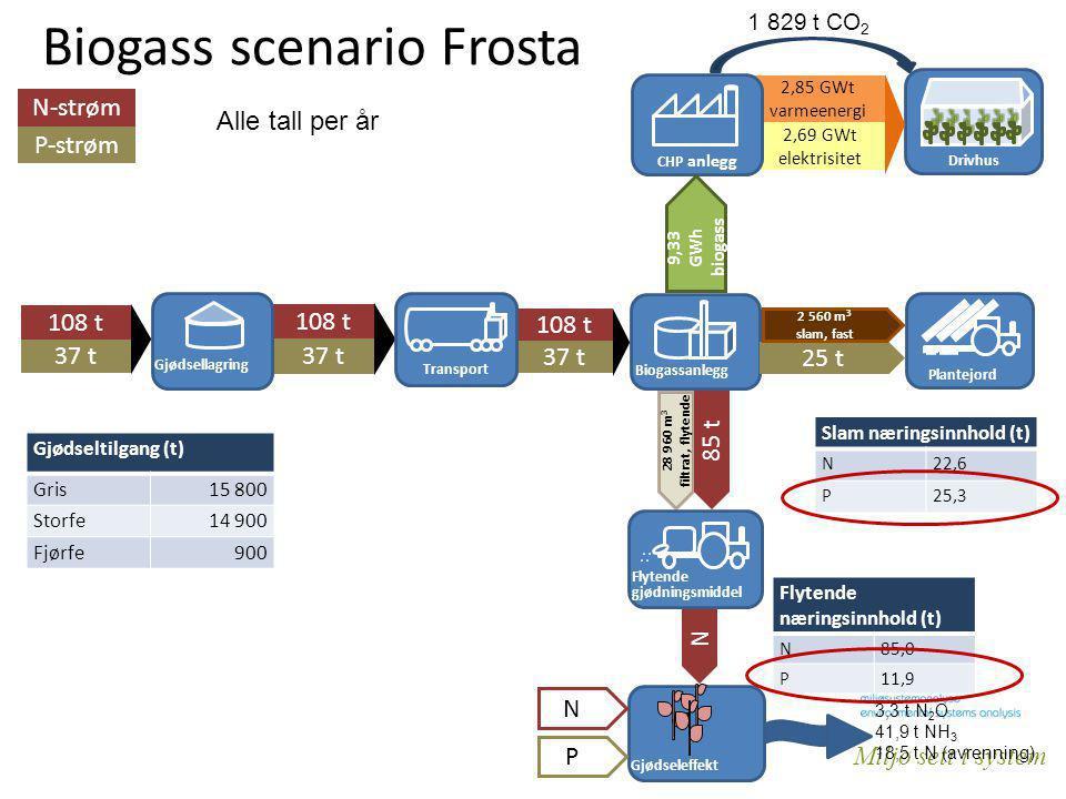 Biogass scenario Frosta