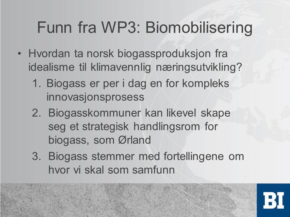 Funn fra WP3: Biomobilisering