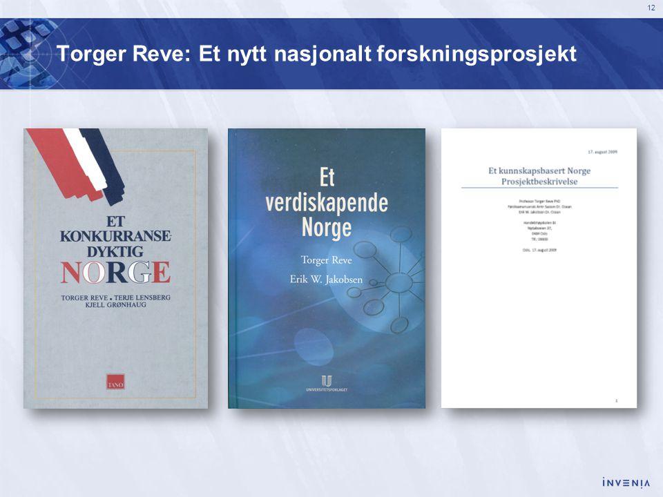 Torger Reve: Et nytt nasjonalt forskningsprosjekt